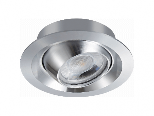 Recessed Round Bright Anodizing CNC Turning Aluminum LED COB 5W 7W Ceiling Spotlight Downlight C95C1