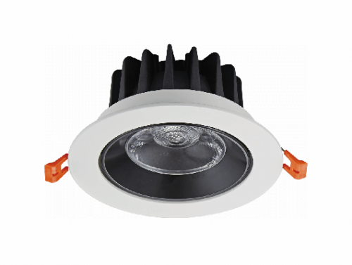 Recessed Round White CNC Turning Aluminum LED COB 10W 12W Ceiling Spotlight Downlight C1012