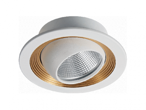 Recessed Round White Golden CNC Turning Aluminum LED COB 5W 7W Ceiling Spotlight Downlight C95A3