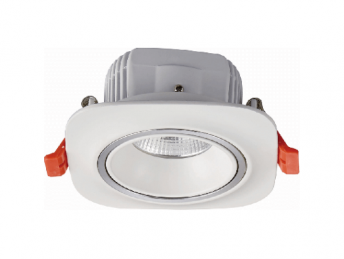 Recessed Square White Die-casting Aluminum 7W LED COB Ceiling Spotlight Downlight C433