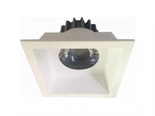 Recessed Square White Die-casting Aluminum LED COB 5W 7W Ceiling Spotlight Downlight C406